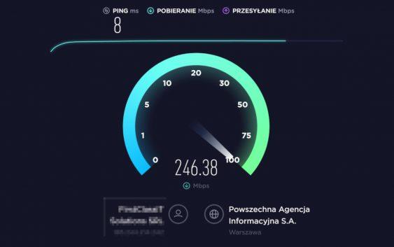 NordVPN szybkość działania