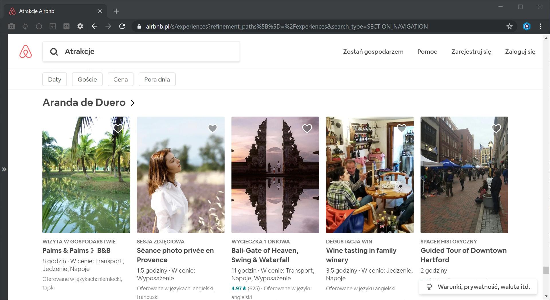 Airbnb atrakcje