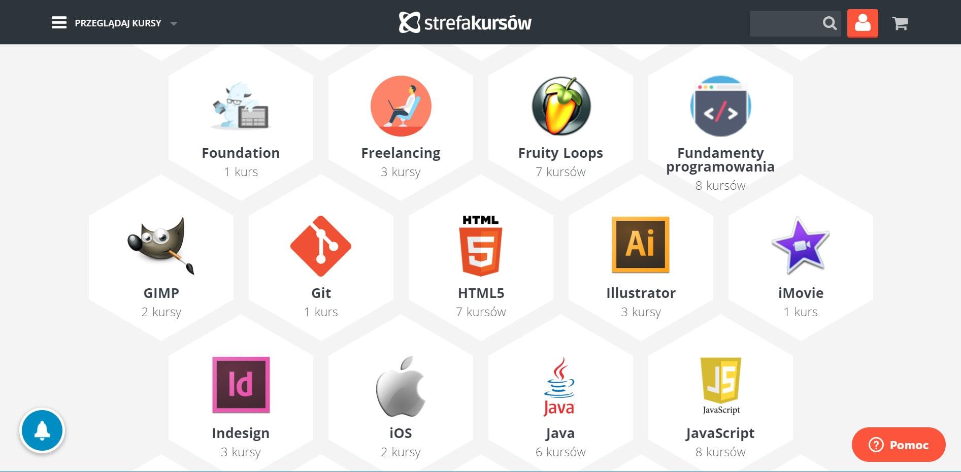 Strefa Kursów - lista aplikacji